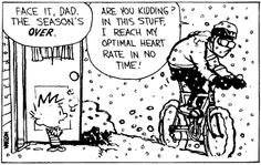 Before bike helmets were common sense, I biked all the time in the winter