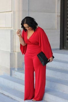 There's nothing wrong with an all red outfit! Feel more confident in what you wear at hookedupshapewear.com!