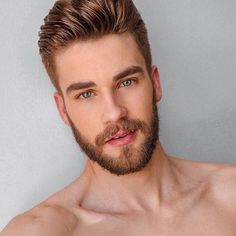 Image may contain: 1 person, beard and closeup Beard Styles For Men, Hair And Beard Styles, Beautiful Men Faces, Gorgeous Men, Beard Look, Ginger Men, Ginger Beard, Awesome Beards, Moustaches