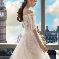 White wedding dress half sleeve bride wedding dress lace tulle wedding dress off-the-shoulder long drag tail wedding dress on Storenvy Tulle Wedding, White Wedding Dresses, Wedding Bride, Half Sleeve Dresses, Half Sleeves, Lace Evening Dresses, Dress Lace, Off Shoulder Wedding Dress, Perfect Fit