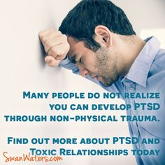 People don't realize PTSD can develop after emotional trauma. Listen to our podcast on PTSD and Toxic Relationships where we delve into that topic and talk about how PTSD can manifest (and how we deal with it)