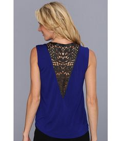Leather Laser Cut Tank from Townsen. #fashion #details #zappos