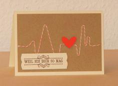 Eine Karte für eine Liebeserklärung zwischendurch oder zum Valentinstag.
