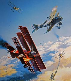 Knights Of The Sky, by Nicolas Trudgian (Fokker Dr.I vs SE5a)