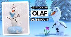 Aprenda como fazer o Olaf de biscuit passo a passo. Este pap é super fácil de fazer e é uma ótima ideia pra centro de mesa ou lembrancinha da Festa Frozen!  http://topartesanato.com/olaf-de-biscuit-frozen/