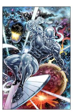Silver Surfer #2, pg. 4 (Pen & ink+Color Commission) Comic Art