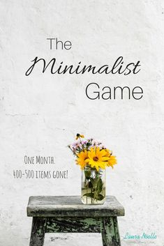 The Minimalist Game is a great way to get items out of your home in one month! In the Minimalist Game Week One we're gaining decluttering confidence Minimalist Kids, Becoming Minimalist, Minimalist Home Decor, Minimalist Lifestyle, Minimal Living, Minimal Home, Simple Living, Slow Living, Living At Home