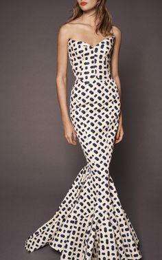 Mermaid Gown by ZAC POSEN for Preorder on Moda Operandi