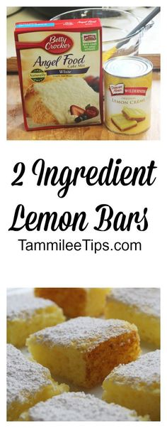 I love easy recipes! Recipes that you can throw together super fast and have a scrumptious treat! That is exactly what this 2 ingredient Lemon Bars Recipe offer