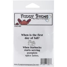 "Riley & Company Funny Bones Cling Stamp 2""""X2.25""""-Pumpkin Spice Lattes"