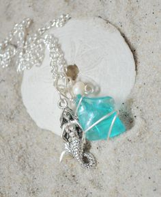 Seaglass and Mermaid Necklace