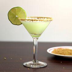 Key Lime Martini recipe: Vanilla Vodka, Key Lime Juice, Coconut, Pineapple, Cream