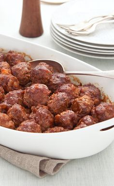 Easy Party Meatballs — Don't be surprised if your crew rushes the buffet table when you set out these Easy Party Meatballs.