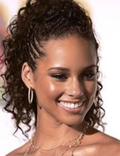 Braided hairstyles for black girl; try on these wonderful braided hairstyles for black girls ideal for all occasions. Best braided hairstyles for black girls Braided Mohawk Hairstyles, Black Hair Updo Hairstyles, Prom Hairstyles, Braided Updo, Alicia Keys Hairstyles, Hairstyles Pictures, Simple Hairstyles, Hairstyle Photos, Braided Pony