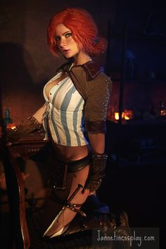 Triss Merigold Cosplay, Triss Cosplay, Strong Girls, Character Costumes, The Witcher, Steampunk Fashion, Cosplay Girls, Female Characters, Cosplay Costumes