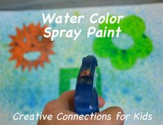 Use liquid water color and stencils for colorful fun. We loved this activity!