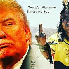 Dances With Putin. . . . . #DancesWithPutin #AgentOrange #DonaldTrump #IdiotInChief #Pocahontas #NativeAmericans #FuckingMoron #NationalEmbarassment #Ignoramus  #TrumpForPrison #VetsAgainstTrump #Maga