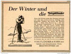 Original-Werbung/Inserat/ Anzeige 1929 - VOIGTLÄNDER KAMERAS - ca. 100 X 140 mm