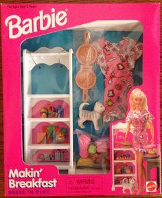 Barbie Makin Breakfast Dress 'n Play Set by Mattel, 1997