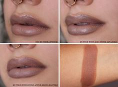 NYX Matte Lipstick in Butter: Review Swatch brown lips 90s lipstick #nyx #bbloggers