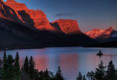 Wish I was here...Fine Art Photography Lake St Marys Glacier Naional by PhotoCatcher, $40.00