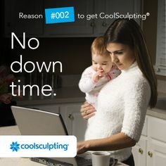 No knifes, no anethesia. No plastic surgery. Just the simple CoolSculpting technique.