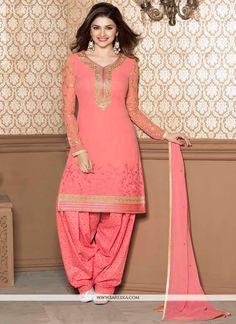 Prachi Desai Beige Georgette Punjabi Suit | Lace, Colors and In color