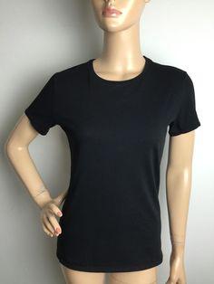 Adam Lipper Black Crewneck Short Sleeve T Shirt Size 2 Women'S   eBay