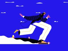 Going through the week like. ripple wave blue smoke motiondesignschool character hippie ride smooth speed chill skater Going through the week like. Design Typography, Design Logo, Design Poster, Web Design, Design Trends, Astronaut Illustration, Character Illustration, Graphic Design Illustration, Digital Illustration