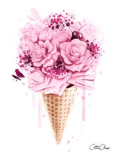 of Ice Cream Bouquet Print - za crtanje - .- Image of Ice Cream Bouquet Print – za crtanje – … – - of Ice Cream Bouquet Print - za crtanje - .- Image of Ice Cream Bouquet Print – za crtanje – … – - Best painting colors magnolia ideas Well, how n. Flower Bouquet Drawing, Flower Art, Drawing Flowers, Wallpaper Flower, Iphone Wallpaper, Ice Cream Wallpaper Iphone, Mode Poster, Watercolor Flower, Illustration Blume
