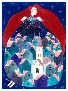 Pinzellades al món: Aletegen àngels... s'apropa Nadal: il·lustracions d'Andrea Kürti