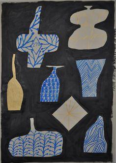 Nicolas Burrows From Hollow Vaults hid in SandInk & gouache on Japanese paper Illustrations, Illustration Art, Collages, Collage Kunst, Art Plastique, In Kindergarten, Gouache, Art Education, Art Lessons