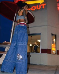 Who said that men only rock JNCOs? JNCO Bulldog Wide Leg Jeans