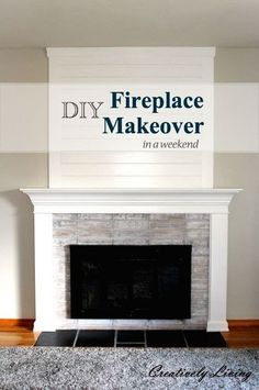 DIY Give Your Fireplace A new High Impact Low Effort Makeover For the Winter all for Under a $100 !!