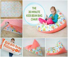Make a comfy Bean Bag for kids in 30 Minutes #diy #beanbag
