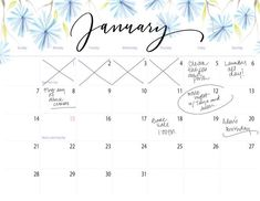 """Get ready for 2018 with the Floral Printable Calendar by Printable Haven! We couldn't wait to introduce this 2018 calendar! This floral calendar is 11"""" x 8.5,"""""""