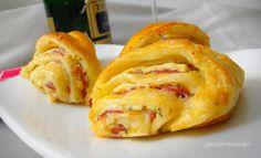 Szilveszteri füstölt falatkák recept Baked Potato, Pancakes, Food And Drink, Potatoes, Bread, Baking, Breakfast, Ethnic Recipes, Gastronomia