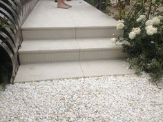 This Gold Award Winner at RHS Chelsea Flower Show (2014), designed by Jo THompson showcases our Sandy White Porcelain Paving beautifully. is a great choice for contemporary garden designs due to its consistent colouring and Mediterranean feel.