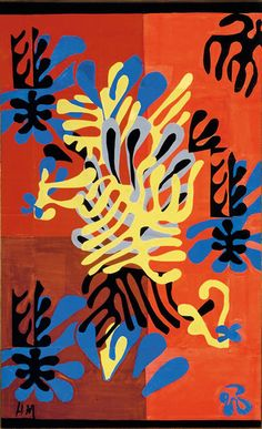 "'Mimosa' (1949-51) -- ""In pictures I can only go back over the same ground,"" Matisse said in 1945. ""Paintings seem to be finished for me."" He turned to decoration."