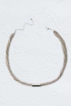 Multi Row Tube Necklace