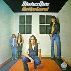 On the Level is the eighth studio album of English rock band Status Quo. It features Francis Rossi, Richard Parfitt, Alan Lancaster and John Coghlan. Lps, Rock Album Covers, Classic Album Covers, Rock & Pop, Rock And Roll, Lp Vinyl, Vinyl Records, Vinyl Art, Status Quo Albums
