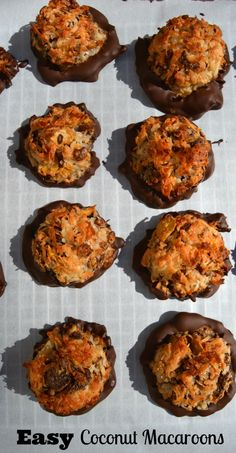 ... in chocolate. The homemade coconut macaroons are amazing scrumptious