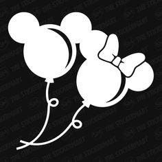 Disney Mickey, Minnie Balloons Vinyl Decal – The Stickermart Disney Diy, Disney Dumbo, Disney Cups, Disney Crafts, Disney Mickey, Sally Nightmare Before Christmas, Disney Tassen, Alice In Wonderland Clipart, Disney Collection