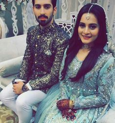 Aiman khan engaged with Muneeb Butt❤