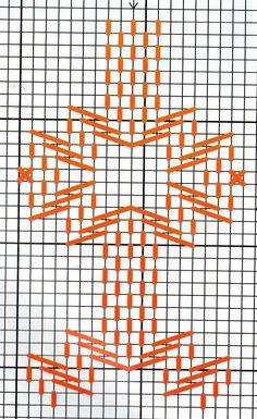 Material : Linha para bordar Agulha para ponto cruz Tecido com uma trama própria para bordados. RISCO: Use o ...