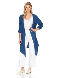 NYDJ Women's Cascade Tencel Jacket - best woman's fashion products designed to provide How To Fold Sleeves, Loungewear Outfits, Dusters, Winter Fashion Outfits, Lounge Wear, Jackets For Women, Cover Up, Coats, Woman
