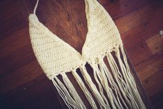 Crocheted boho hippie bikini crop top