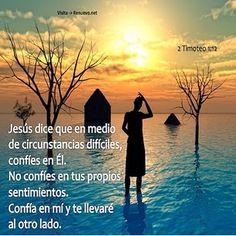 Jesus yo confio en ti para seguir tu camino...se que nunca me abandonas y cuando estoy apunto de caer tu mano me sostendra.