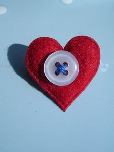 Red, White and Blue Heart Brooch