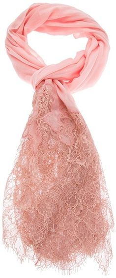 This could be nice over a wedding gown or bridesmaid dress by valentino-Lace and Knit Scarf - Lyst